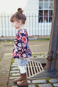 Pretty in Peplum Dress at Our Family Four-31